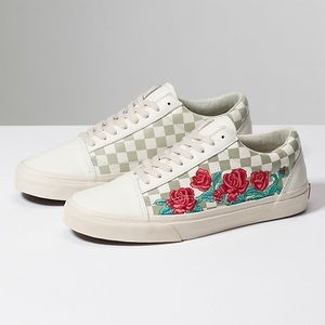 Vans rose embroidery